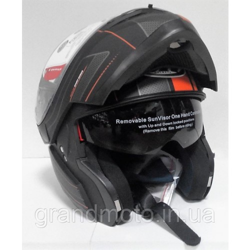 Мотошлем MT Helmets Optimus SV Raceline Matt-black-orange